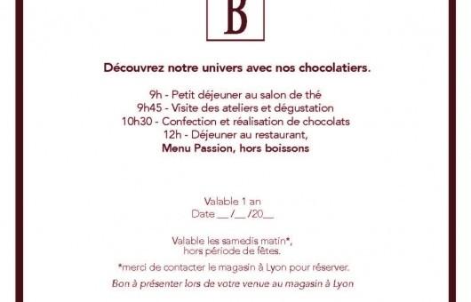 Carte Cadeau Visite de la chocolaterie
